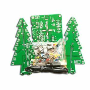 kdjsic Kit de Bricolage LED Arbre 3D tridimensionnel Rouge/Bleu/Jaune LED Flash Circuit pièces électronique Fun Suite Cadeau