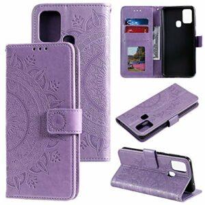 LODROC Coque Galaxy M31 / M21 Coque,Housse en Cuir Premium Flip Case Portefeuille Etui avec Stand Support et Carte Slot pour Samsung Galaxy M31 / M21 – LOHH0500571 Violet