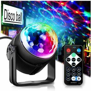Lumières de fête Disco Ball Disco Lights, Tongk 7 Couleurs DJ Éclairage LED Strobe Lumière Strobe Activation Activation Effet Équipement DJ Équipement de DJ avec télécommande avec Festival Enfants Ann