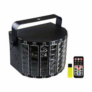 Lumières de Scène de Partie De Led Éclairage de scène LED par haut-parleur de lumière LED Bar KTV Strobe Sound Control Flash Effet de Fête Sur Scène ( Couleur : Black , Size : 20×14.9cm )