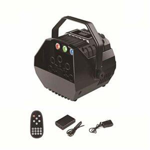 Machine à bulles, fabricant automatique de bulles de ventilateur, 2 niveaux de vitesse LED allume la poignée détachable de télécommande manuelle de grand volume, pour l'anniversaire fête en plein air