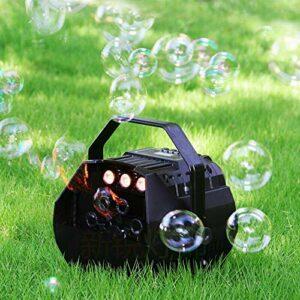 Machine à bulles LED RVB – Portable – Machine à bulles automatique avec télécommande – Pour les fêtes, les mariages, les discothèques, les soirées DJ