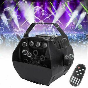 Machine à bulles LED RVB portable – Mini machine à bulles automatique avec télécommande, alimentée par batterie ou prise – Pour mariage, anniversaire d'enfant et scène – Fonctionnement silencieux