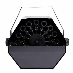 Machine à Bulles Portable, 25W Souflant à Bulles Haut Débit Mécanismes de Soufflage Automatique à Distance Sans Fil (Noir)