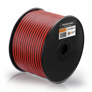 MANAX® Câble pour enceinte Rouge/noir 2 x 1,5 mm², bobine de 100m
