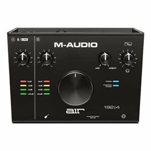 M-Audio AIR 192|4 – Interface Audio USB / USB-C, Carte Son avec 2 Entrées et Sorties avec Logiciels de Studio: Pro-Tools|First, Ableton Live Lite, Eleven Lite, Avid Effects Collection et FX et Vis