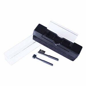 Meipai 1 ensemble de brosses de nettoyage antistatiques en fibre de carbone pour disques vinyles