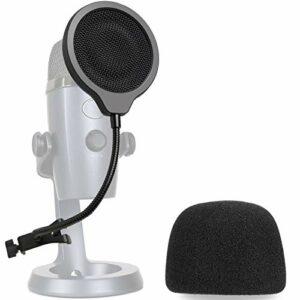 Microphone Blue Yeti Nano Bonnette en Mousse avec Filtre Anti Pop – Mousse Micro avec Bouclier de Microphone 3 Couches Améliorant la Qualité Sonore pour Microphone Yeti Nano par YOUSHARES