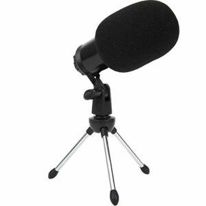 Microphone K5 à condensateur d'enregistrement professionnel avec support USB pour une utilisation en direct de la chanson de conversation en studio