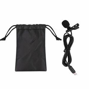 Mini Clip On Mic Interface Audio Type-C, Clip Durable et Stable sur Microphone, Microphone Lavalier léger, pour téléphone Android