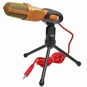 NCONCO Microphone professionnel à condensateur pour enregistrement sonore studio avec support de montage, 3,5 mm