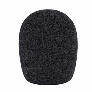 Neewer Boule Type Mousse Microphone Portable Bonnette Anti-Vent Pop Filtre pour Microphone à Condensateur, 4,5cm x 4,5cm x 7cm, Noir