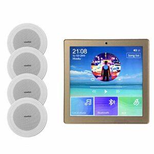 Numérique Smart Home Audio 4 * 20W Bluetooth Amplificateur Mural Système De Son Stéréo Lecteur De Son Système De Sonorisation Système De Sonorisation Haut-parleur De Plafond Ensemble Pas Cher Haut-par