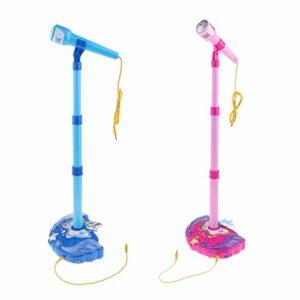 perfeclan 2x Enfants Enfants Karaoké Machine Jouet Musical Microphone Jouets D'éducation Précoce