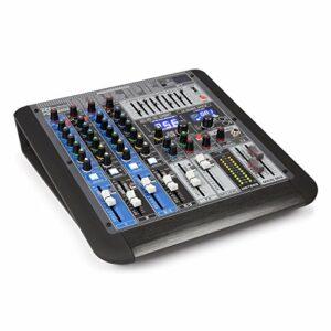 Power Dynamics PDM-S604 Table de Mixage Professionnelle Analogique 6 Canaux, Console DJ, Sonorisation Pro, DSP 24 bits, 256 Effets, USB MP3 Bluetooth, Egalisateur 9 bandes, Micro/Casque