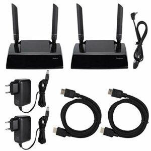 Récepteur émetteur HDMI sans Fil Récepteur émetteur vidéo sans Fil HDMI Extender HDMI 1080P 100-240V(Prise UE)