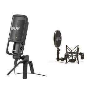 Rode NT-USB Microphone Noir & SM6 Suspension Antichoc pour Microphone