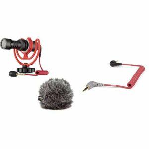 Rode VideoMicro Microphone Caméra Compact, Couleur Assortie & SC7 Câble Patch pour VideoMic GO