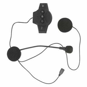 Rosvola Casques Bluetooth 4.1 Casques de Casque imperméables Fonction de Rappel Vocal Fonction de Rappel Vocal Matériel ABS Bureau pour Le Travail de Moto à Domicile