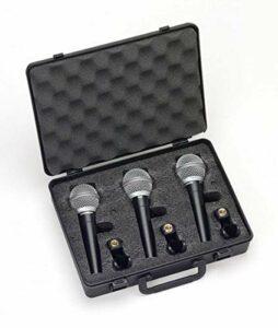 Samson R21 Pack de 3 Microphones dynamiques cardioïdes Noir