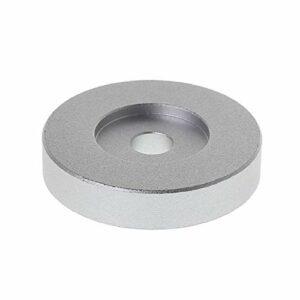 SHIZHI Adaptateur de Platine d'enregistrement 45 Tours d'aluminium d'aluminium d'aluminium pour 7″Vinyl Technics SL1200 Series (Color : Silver)
