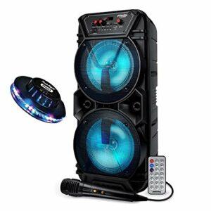 Système Audio sans fil Batterie Enceinte DJ Sono Pickering CX260 300W USB/SD+Bluetooth + Micro-Télécommande + OVNI LED
