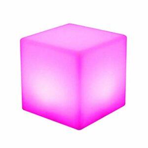 Tabouret carré à LED – Économie d'énergie – Sept couleurs – Lampe décorative