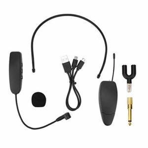 Tête sans fil portant amplificateur de puissance de haut-parleur de casque de microphone pour les professeurs d'accueil de conférence