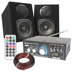 Tronios Fenton Compact HiFi kit avec amplificateur et Haut-parleurs