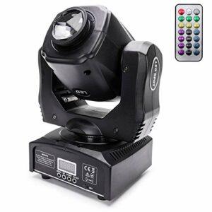 UKing DMX512 Projecteur à LED 60 W avec télécommande fonctionnelle, 8 motifs, 8 couleurs, lumière disco, contrôle par la musique pour DJ, bar, club, lumière de scène