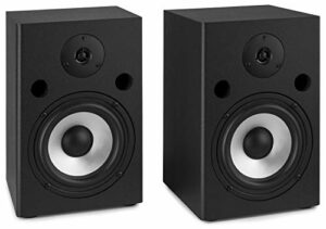 Vonyx SM65 Moniteur Audio Noir – Moniteurs Audio (80-20000 Hz, 90 W, 180 W, 2,54 cm (1″), 16,5 cm (6.5″), RCA)