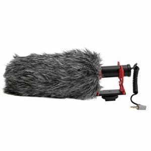 Walfront SAIREN-Q3 Universal Phone Microphone Réduction du Bruit Microphone d'Enregistrement Support Anti-tremblement Couverture Anti-vent