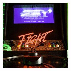 WANGF Enseignes Au Néon pour Chambre Le Classique King of Fighters K.O.Fight VS Enseigne Au Néon Street Fighter Jeu Ornements Créatifs Nostalgiques avec Décoration de Base Veilleuse