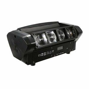WNN-U Mini-araignée à tête mobile de scène DJ LED d'éclairage RGBW, Sweeper impulsion double effet stroboscopique lumières Restaurant, Live, Club, Concert Etc WNN-U