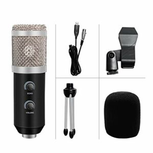 YuanLife BM 800 Podcast Enregistrement du Microphone de condensateur USB pour Ordinateur Studio Youtube Microphone Professionnel Karaoké (Couleur : 1)