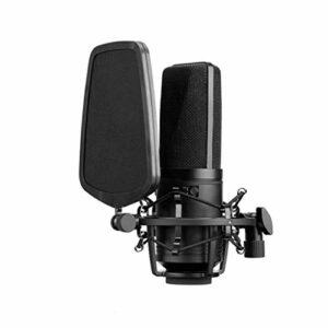 YUTRD ZCJUX Grand diaphragme Condenseur Microphone 3 Poignée Polaire Filtre à Faible Taille pour la chanteuse Podcaster Studio Studio Discuit vidéo