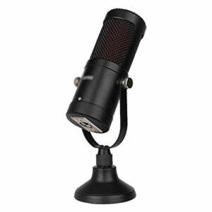 ZLDQBH Microphone, pour téléphone Mobile en Ligne National K Song Live Shouting Microphone Enregistrement Microphone à condensateur