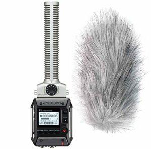 Zoom F1-SP Enregistreur de champ avec microphone directionnel et protection contre le vent Keepdrum WS-WH