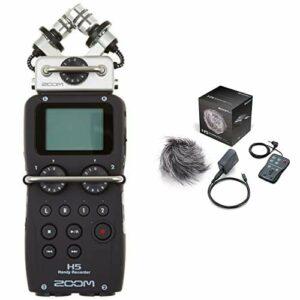 Zoom H5 – Enregistreur Multipistes, Noir & APH-5 Pack d'accessoires pour H5 Noir