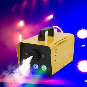 AIBOOSTPRO Machine à fumée jaune 500 W avec télécommande sans fil, lumières LED multicolores, convient pour Noël, Halloween, fête, scène de mariage,