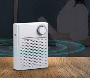 APROTII 12W Voix Amplificateur Portable Mini Avec Sound-Amplifying, Musique Playing, Filaire Microphone Casque, Et Ceinture, 1200mAh Batterie, Pour Classe, Réunions Extérieur, Enseignants, Tour Guide