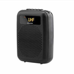 APROTII Amplificateur de voix portable 15 W avec micro sans fil UHF, système de sonorisation pour enseignants, guide de tourisme