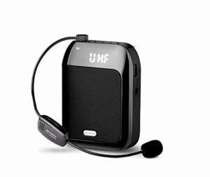 APROTII Portable 15W Voix Amplificateur Avec sans Fil Microphone, Enregistreur Et Radio Fm, Support Carte Tf / U Disque / Aux , Durable Usage 12-15 Heures Pour Enseignement, Entraînement, Tour Guides,