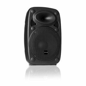 AUNA Pro SLK-8-A – Enceinte PA Active, Système PA Mobile, Haut-parleurs sur Pied, 8″ (20cm), 300W Max, XMR Bass Technology, Bluetooth, USB, SD, MP3, Line in/Out, Raccord à Bride, Noir