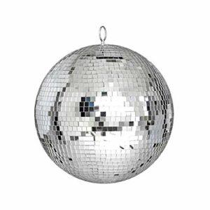 Ba30DEllylelly Grand miroir boule disco en verre DJ danse maison bandes de f¨ºte ¨¦clairage de sc¨¨ne de club lumi¨¨re de boule disco durable