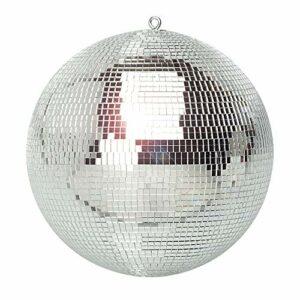 BeamZ Boule à Facettes 30 CM, Disco Ball, DJ Light Effect, Boule Discothèque, Sphère en PVC, Boule Décoration Miroir, Eclairage Argenté, Sphère Club