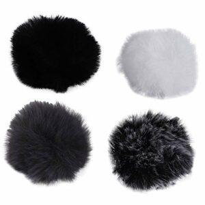 BOINN Universal Lavalier Microphone Furry Windscreen Pare-Brise Fourrure Coupe-Vent Soft pour Rode Lapel Lavalier Mic 5Mm