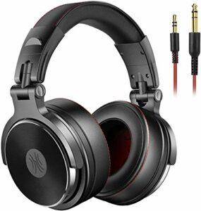 Casque DJ Fermé, OneOdio Casque Audio HiFi Casque Audio Studio, Casque de Monitoring, Casque Audio Filaire avec Les Haut-Parleurs de 50 mm