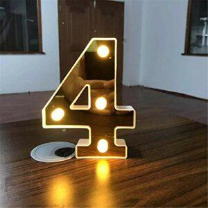 Chiffres lumineux décoratifs à LED – À piles – Pour mariage, fête d'anniversaire