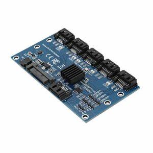 Convertisseur, Adaptateur Convertisseur, Multifonction SATA3.0 Carte d'extension 1 à 5 Universelle Compatible avec WIN7 Compatible avec WINXP